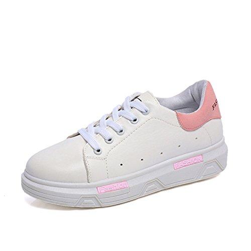 chaussures féminin coréen à l'automne/Chaussure respirante Joker blanc shoes/ chaussures à semelles épaisses avec des plaques blanches/Baskets Casual A