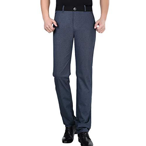 Dwevkeful Hosen Herren Solid Casual Slim ReißVerschluss Business Lange Mit Bequemen Arbeit Bequeme Gray Bermuda Lightweight Straight