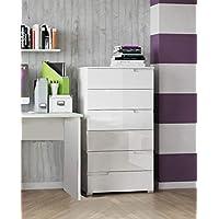 Movian Lek 6-Drawer Chest, 65 x 119 x 40cm, White