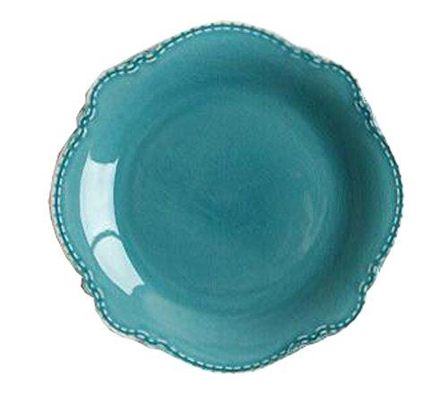 Keramik Flach Dessert Kuchen Teller Platte Süßigkeiten Gerichte Hochzeit Salat Platte 8 Zoll (blau)