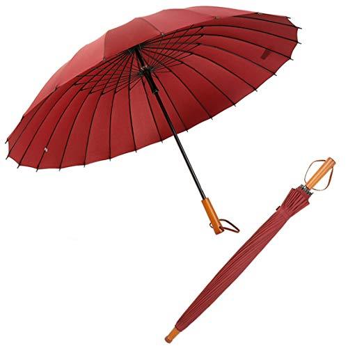 Paraguas palo 24 varillas fibra vidrio resistente