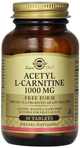 Solgar - Acetyl L-Carnitine 1000 mg - 30 Comprimés