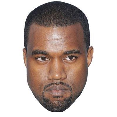 Celebrity Cutouts Kanye West Maske aus Karton
