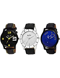 Pappi Boss Combo Of 3 Analog Casual Watches for Men, Boys