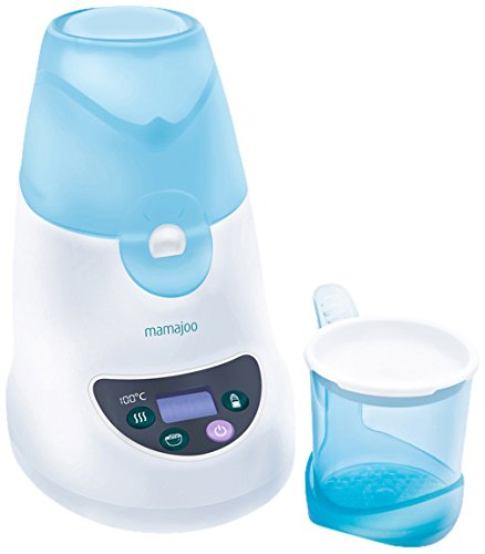 Mamajoo, Articolo 3 in 1, Scaldabiberon, scaldapappa e sterilizzatore a vapore, Blu (Blau)