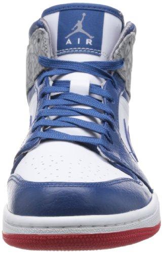 Nike Air Jordan 1 Mid Basketballschuhe Sneaker verschiedene Farben Weiß / Blau / Rot