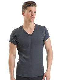 2COZEE® Mens/Gentlemens Thermal Underwear V Neck Short Sleeve Vest Interlock 8 X 1 Various Colours & Sizes