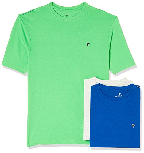 Ruggers Men's Solid Regular Fit T-Shirt (Pack of 3)(269969826_Assorted_Medium)