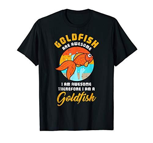 Minute Last Super Kostüm Einfache - Goldfish Super Süßes Fisch Haustier-Halloween-Geschenk T-Shirt
