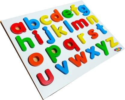 Master Mart Wooden Learning Puzzle, Small Alphabet Learning Puzzle Tray for Kids