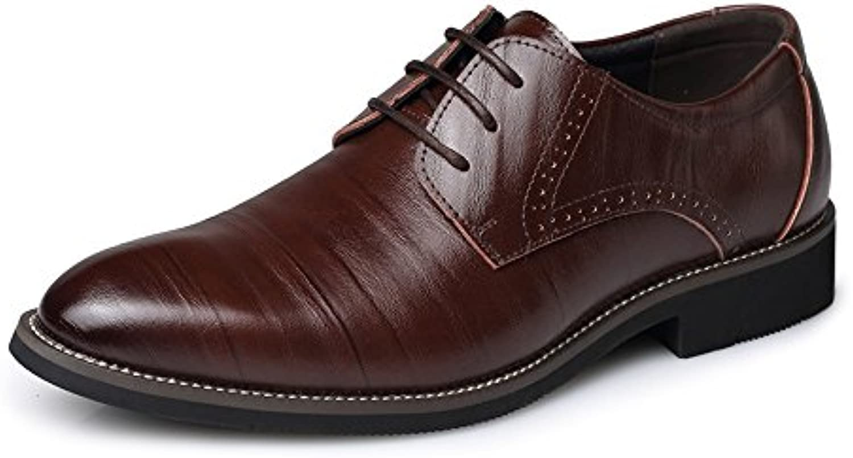 SRY-scarpe Semplici Scarpe da Uomo in Pelle PU Classiche Mocassini con Lacci | Una Grande Varietà Di Merci  | Uomini/Donna Scarpa