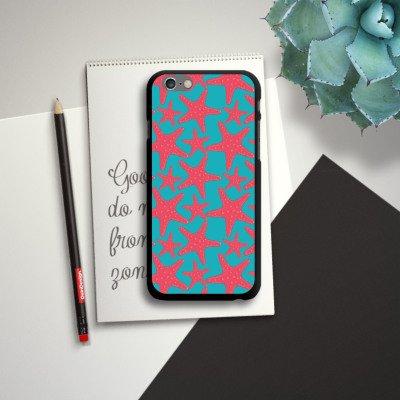 Apple iPhone 6 Housse Étui Silicone Coque Protection Étoile de mer Été Vacances CasDur noir