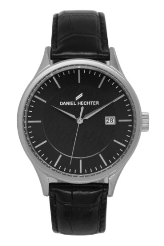 Daniel Hechter Unisex Analogue Watch with Black Dial Analogue Display - DHH 003/AA
