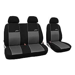 In diesem Angebot SCHWARZ POK-TER-BUS Ma/ßgefertigter Sitzbezug . Modellspezifischer Sitzbezug Fahrersitz Muster im Foto STOFFART VIP Beifahrersitz F/ür VW T6 MULTIVAN Super Qualit/ät