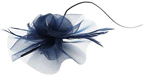 fascinator dunkelblau EOZY Damen Mini Hut Fascinator Hut Blumen Haarschmuck Dunkelblau