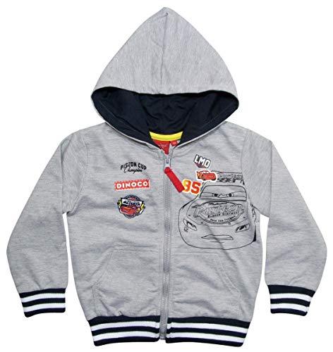 Cars 3 Hoodie Jungen Sweatjacke Disney Lightning McQueen (Grau, 122-128)