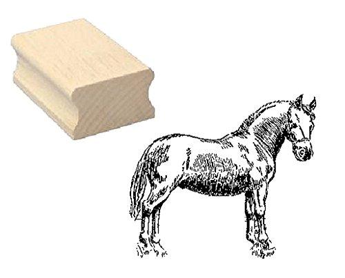 Stempel Holzstempel Motivstempel « PFERD PONY » Scrapbooking - Embossing Kinderstempel Tierstempel Reiten Reiterhof Reiter -
