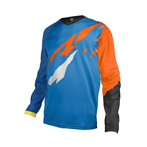 Daisy Langarm-shirt (Uglyfrog Bike Wear Element Racewear MX Motocross Jersey Atmungsaktiv Trendy Herren Downhill/MTB Shirt Mountain Shirt Fahrradtrikot Langarm Freeride BMX Frühling Top MF08)