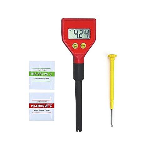 Onechance, Wasserqualitätstester, Längere Elektrode, Digital-pH-Tester (Pool und Teich), PH Korrektur Pulver * 2 + Bedienungsanleitung