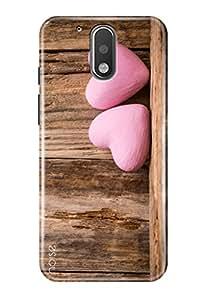 Noise Designer Printed Case / Cover for Motorola Moto G Plus, 4th Gen / Patterns & Ethnic / Pink Hearts Design (GD-1019)