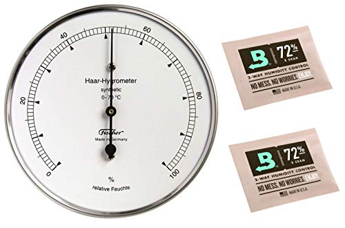 Fischer Haar-Hygrometer Synthetic Made in Germany und 2 Stk Calibration Kits