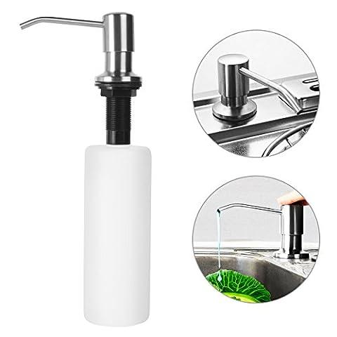 Seifenspender Shampoospender Gelspender Spülmittelspender 500ML Set Nachfüllbar Edelstahl für Dusche Küche Bad / Soap Dispenser Seifen Lotion Spender Dispenser für Hotel