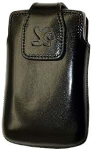 Original Suncase Echt Ledertasche für Sony Ericsson Xperia mini schwarz