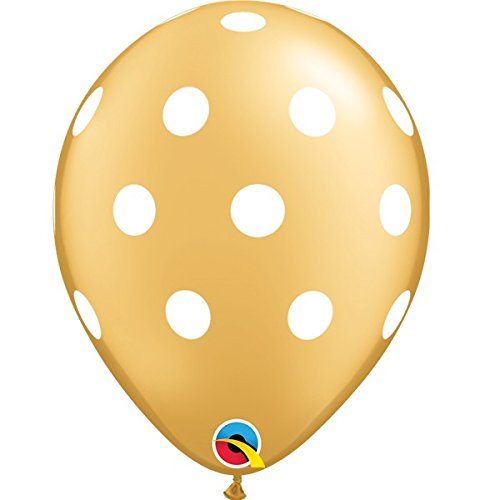 qualatex-big-polka-dots-gold-with-white-spots-11-inch-latex-balloons-10-pack