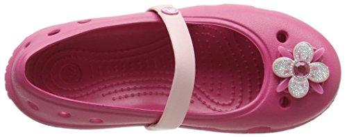 Crocs Keeley Springtime Flat PS Ballerine, Bambine e ragazze Rosso (Raspberry/Petal Pink)