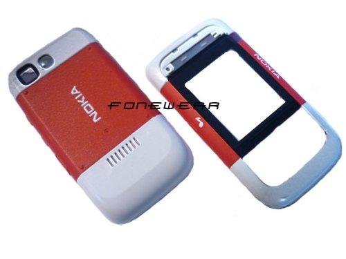 Véritable Original Nokia 5200Rouge/Blanc boîtier Façade Coque façade
