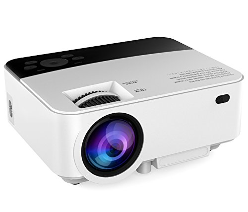 Abdtech 1500 Lumens Mini Led Portable Home 1080P Projector Support Max 176 Screen Optical Keystone