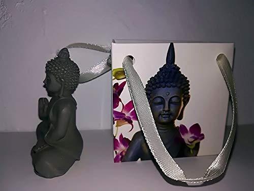 Casablanca 2x Figur Mini Buddha in Tüte grau - 2