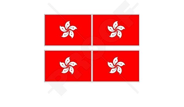 Hong Kong Flagge China Asien Hk Chinesisch 50mm Auto Motorrad Aufkleber X4 Vinyl Stickers Garten