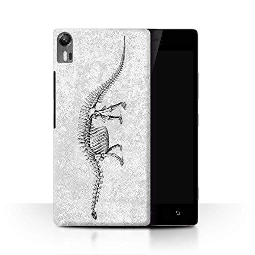 eSwish Hülle/Case für Lenovo Vibe Shot/Z90 / Diplodocus-Skelett Muster/Dinosaurier Jurassic Earth Kollektion