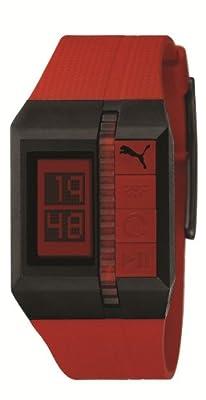 Puma Time A.PU910511003 - Reloj de mujer de cuarzo, correa de resina color rojo de Puma