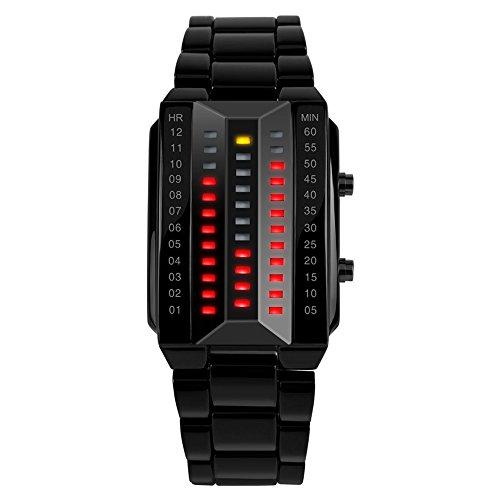 ufengke® fraîche créative LED montre à bracelet électronique étanche,quelques amateurs paire élégante de montre à bracelet poignet lumineuse,noir pour les femmes