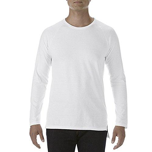 Anvil Herren Langarm T-shirt Schwarz