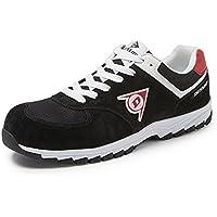 Dunlop DL0201018-38 Zapato, Piel de Ante y Mesh, Negro, 38