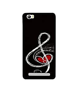 Casotec Love Note Music Design Canvas Printed Soft TPU Back Case Cover for Lava V5