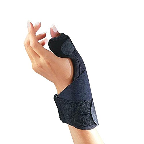 FLA 25-170002 C3 Deluxe Thumb Splint with Microban Right/Left, Universal, Black by FLA - Universal Thumb Splint