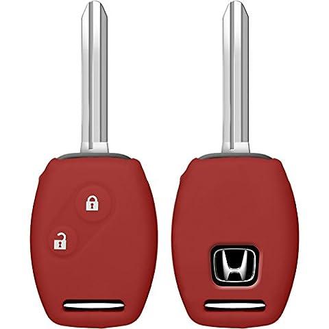PhoneNatic Coque en silicone clé auto rouge pour télécommande Honda