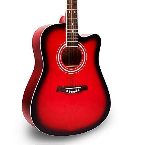 Miiliedy Principiante studente adulto 41 pollici impiallacciatura chitarra femminile maschio studio autodidatta pratica suonare strumenti folk multicolore moda minimalista chitarra acustica