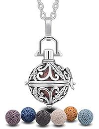 Eudora armonía Piedra volcánica Collar de difusor de Aceite Esencial de aromaterapia joyería Perfume camafeo Jaula Bola de Lava 7pcs