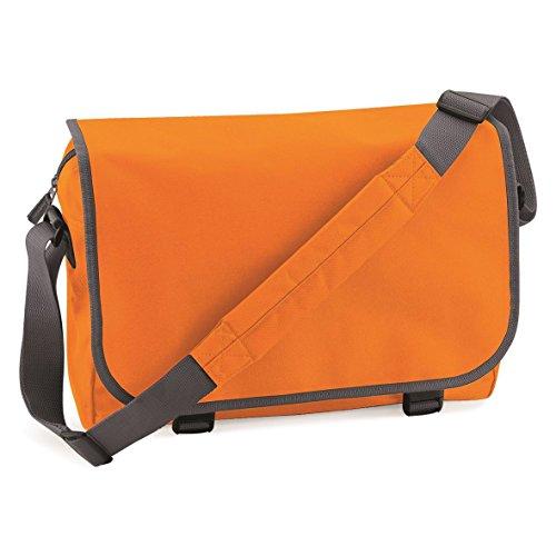 BagBase Messenger bag Orange/Graphite Grey