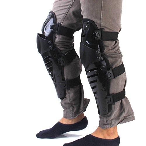 yeah67886-off-road-motociclismo-bicicletta-pads-ginocchiere-protezione-gear-nero