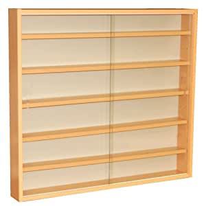 watsons reveal 6 shelf glass wall collectors display cabinet rh amazon co uk
