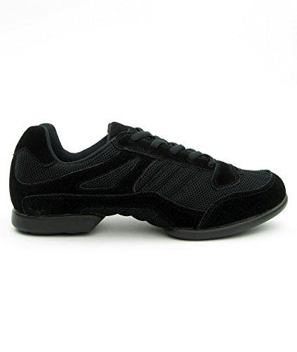 RUMPF Samba Sneaker Sportschuhe Ballet & Tanzschuhe Dance, Schwarz (Black), 43 EU