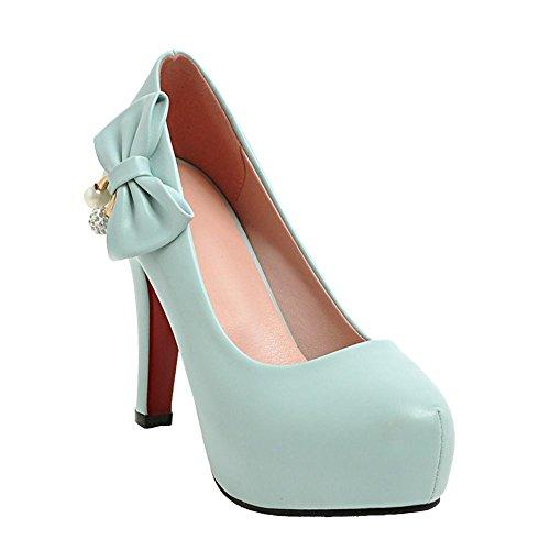 Mee Shoes Damen High Heels mit Perlen Schleifen Pumps