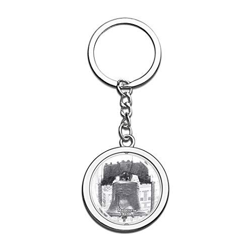 orial Museum Melbourne Skizze Schlüsselbund 3D Kristall Drehen Rostfreier Stahl Schlüsselbund Touristische Stadt Andenken Schlüsselanhänger ()