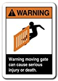 Home Decor ACHTUNG Schild Achtung beweglichen Tor schweren Verletzungen oder Tod führen können... Sicherheit Metall Schild für Outdoor Yard Sicherheit Schild Aluminium Schilder